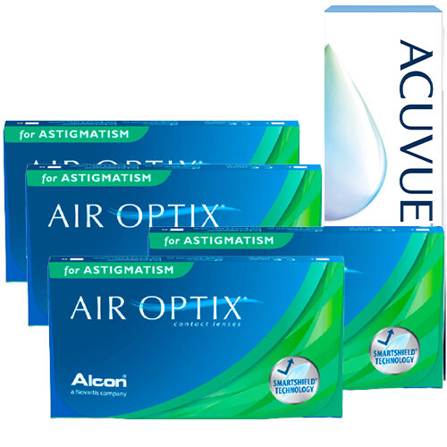 air optix for astigmatism 4 kutu set