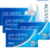 air optix hydraglyde 4 kutu set, aylık Lens
