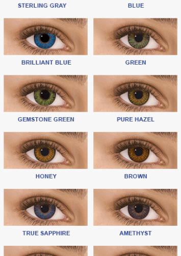 freshlook renk katalogu, hareli gri, hareli mavi, hareli yeşil