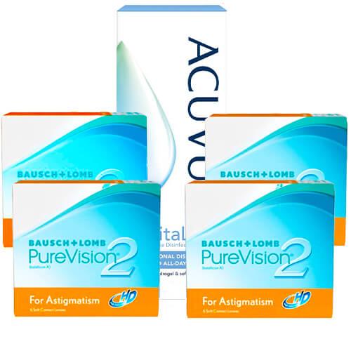 purevision 2 hd for astigmatism 4 kutu set