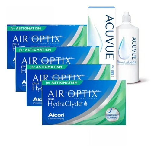 air optix plus hydraglyde for astigmatism 4 kutu