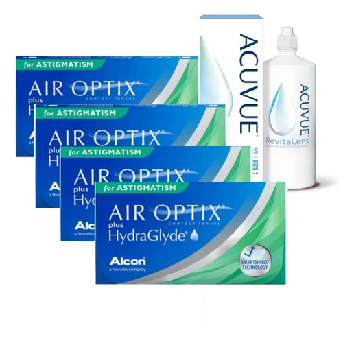 air optix plus hydraglyde for astigmatism 4 kutu