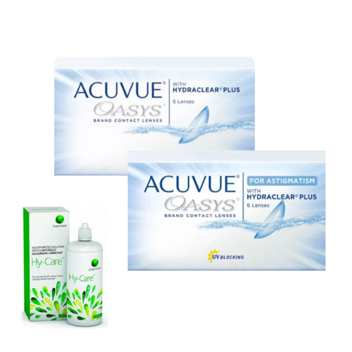 acuvue oasys + Acuvue oasys for astigmatism