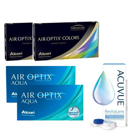 air optix aqua + air optix colors