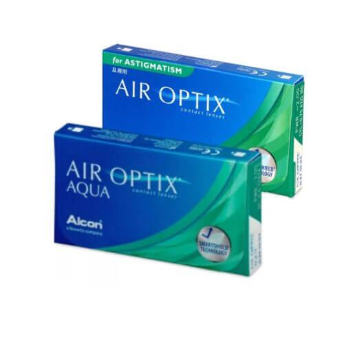 air optix aqua + air optix for astigmatism