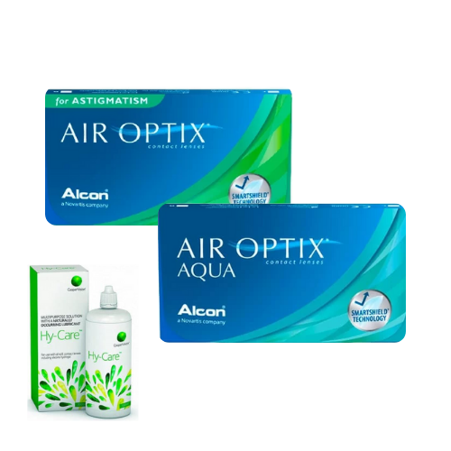 air optix aqua + air optix for astigmatism lens