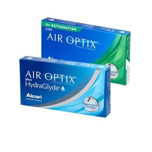 air optix plus hydraglyde + air optix for astigmatism