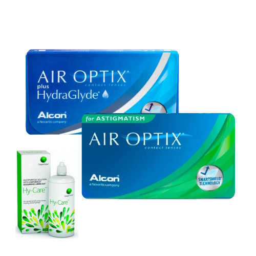 air optix plus hydraglyde + air optix for astigmatism