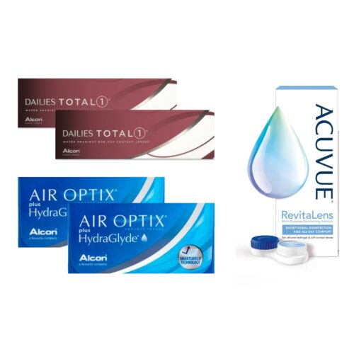 air optix plus hydraglyde + dailies total 1