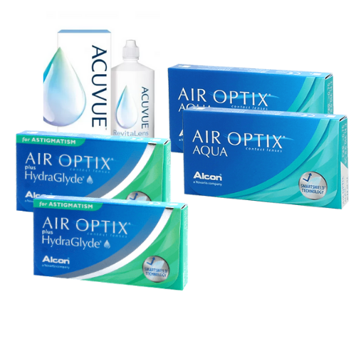 Air Optix Aqua + Air Optix Hydraglyde Astigmatism Set