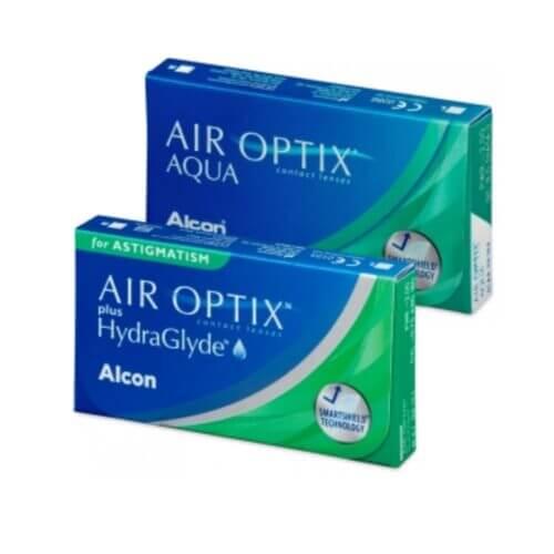 air optix aqua + air optix plus hydraglyde for astigmatism