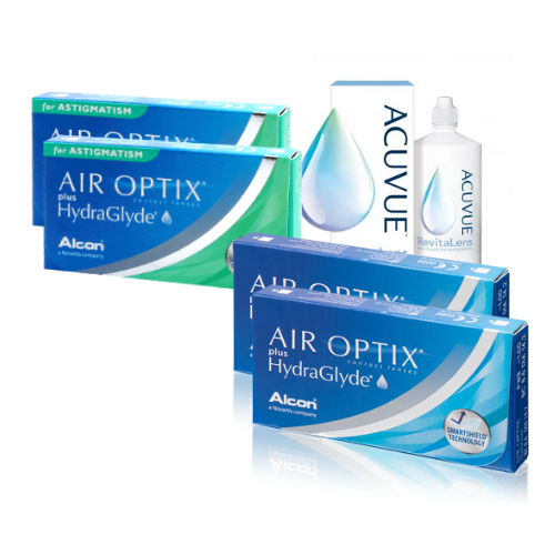 Air Optix HydraGlyde+Air Optix Hydraglyde Toric Set